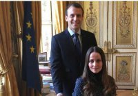 Президент Франции встретился с «первой женщиной-имамом» из Дании