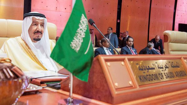 Король Салман на саммите ЛАГ.