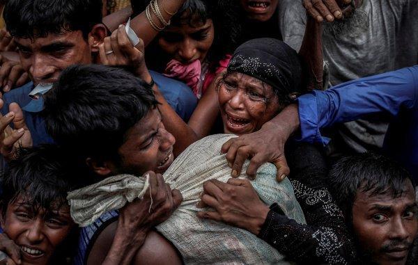 Серия фото о беженцах-рохинджа.