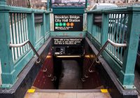 В Нью-Йорке метро залило стеной дождя (ВИДЕО)