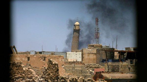 Мечеть ан-Нури была примечательна своим минаретом.