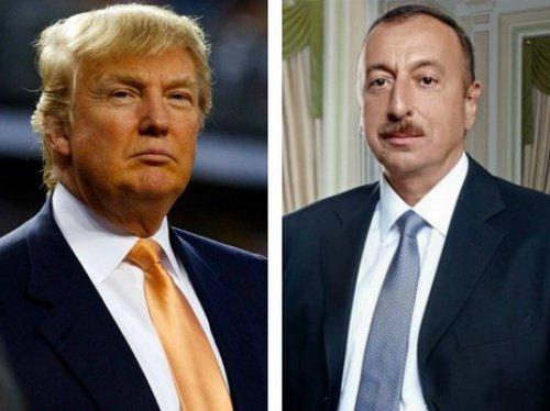 Трамп выразил пожелание об укреплении сотрудничества с Азербайджаном.