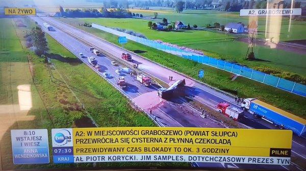 12 тонн шоколада разлилось в Польше (ФОТО)