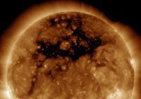 Астрономы показали корональную дыру на Солнце (ВИДЕО)