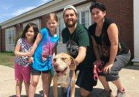 В США собака вернулась домой через 4 года