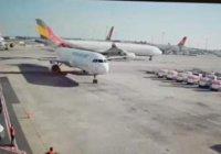 В стамбульском аэропорту столкнулись самолеты (Видео)