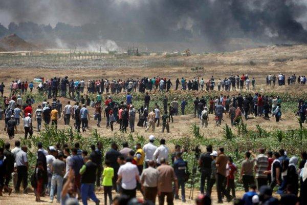 На границе сектора Газа продолжаются столкновения.