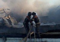 В центре Бишкека сгорела мечеть