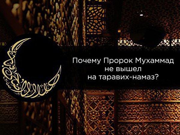 Почему пророк Мухаммад (мир ему) намеренно не пришел на один из таравих-намазов?