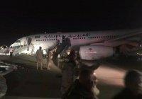 В Саудовской Аравии самолет сел без шасси