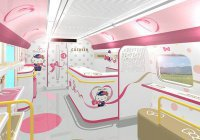 Поезд для поклонников Hello Kitty появится в Японии