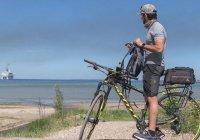 Наследный принц Дубая проехал по Эстонии на велосипеде