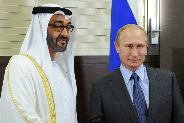 Владимир Путин и Мухаммед Аль Нахайян.