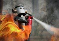 Летающего робота-пожарного создали в Японии (ВИДЕО)