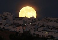 Запечатлено падение Луны на Землю (ВИДЕО)