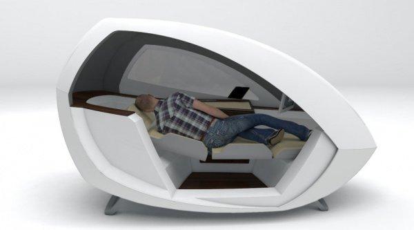 Устройство оборудовано диванчиком, трансформирующимся по типу шезлонга