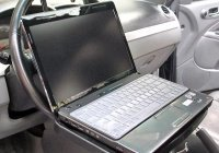 Придуман руль с подставкой для ноутбука