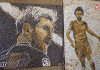 В Казани появятся мозаичные портреты Мохамеда Салаха и Лионеля Месси
