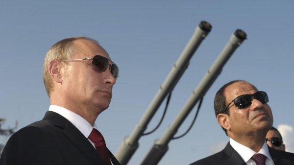 Президент РФ В. В. Путин и президент Египта А. ас-Сиси