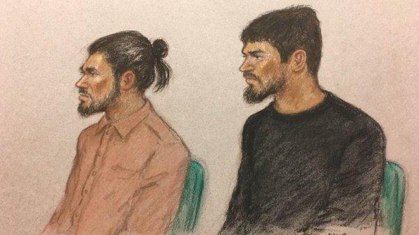 Террористы на судебном заседании.