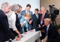 Трамп бросил конфеткой в Ангелу Меркель
