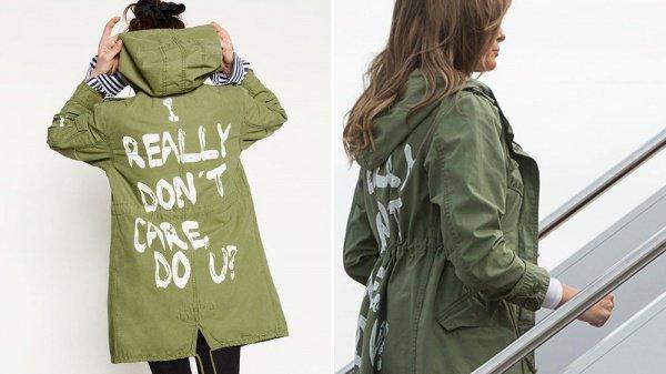 Супруга американского лидера поднималась на борт самолета в куртке с провокационной надписью на спине