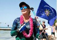 Женщина впервые в истории на серфе добралась из Кубы в США