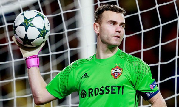 Игорь Акинфеев был признан лучшим игроком матча Россия - Испания.