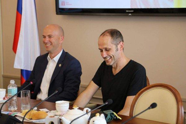 Сергей Иванов на встрече с Джастином Уоллей.