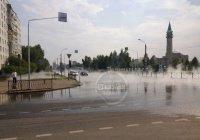 Возле казанской мечети забил фонтан кипятка