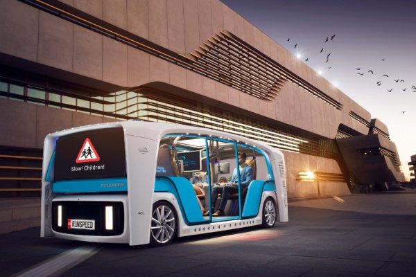 Такая машина может перевозить грузы или использоваться как беспилотное такси