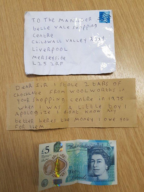 Спустя 43 года грабитель возместил кражу шоколада в Англии