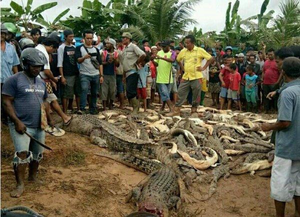 Горожане услышали вопли соседа, однако, когда они прибежали к нему на помощь, индонезиец уже был мертв