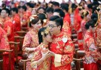 В Китае свадьба провалились под землю (ВИДЕО)