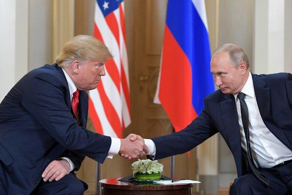 Первая полноформатная встреча Путина и Трампа прошла 16 июля в Хельсинки.