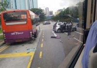 Автобус с паломниками загорелся в Медине