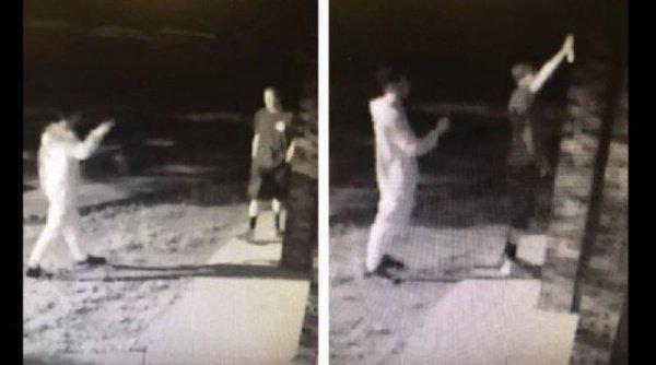 Преступники попали в объектив камер наружного видеонаблюдения.