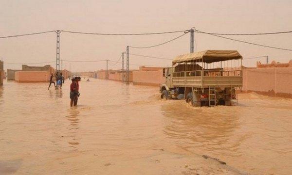 Юг Алжира накрыли мощные ливни.