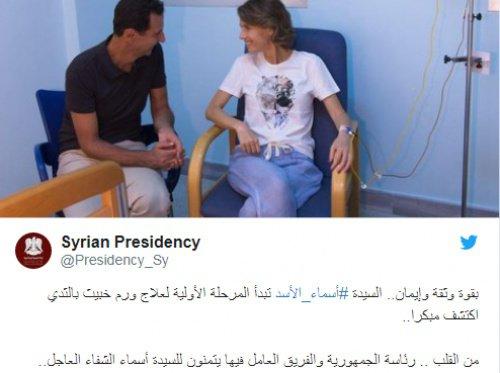Супруги Асад в одной из дамасских клиник.
