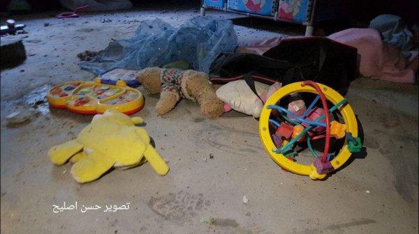 Фото из разрушенного дома палестинцев.