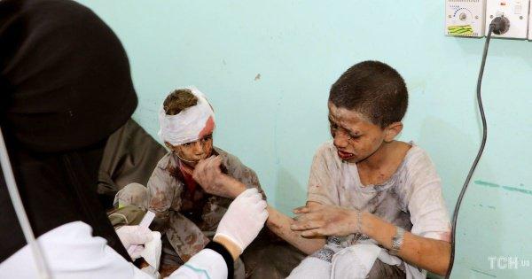 Десятки детей погибли в результате авиаудара в Йемене.