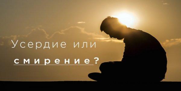 Усердие в молитве