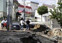 Землетрясение в Японии спровоцировало смертельный оползень