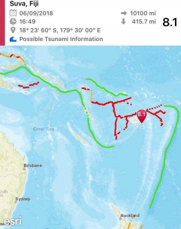 Об угрозе возникновения цунами объявлено не было