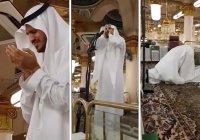 Имам расплакался после того, как впервые прочитал азан в мечети Пророка