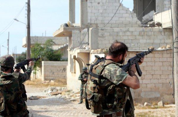 Сирийская армия продолжает наступление.