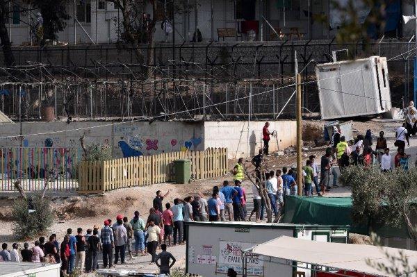 Лагерь беженцев Мориа.