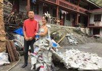 Фермер из Китая сшила необычное свадебное платье (ФОТО)