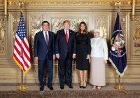 Трамп встретился с президентом Киргизии
