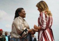 Мелания Трамп начала тур по Африке